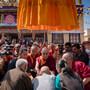 Далай-лама прибыл в монастырь Сера Лачи в Билакуппе