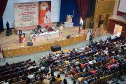 Вид на зал Правительственного колледжа во время конференции, посвященной вопросам мира во всем мире. Дхарамсала, Индия. 2 декабря 2017 г. Фото: Лобсанг Церинг.