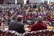 Вид на зал во время ежегодной церемонии вручения наград Правительственного колледжа с участием Его Святейшества Далай-ламы. Дхарамсала, Индия. 5 декабря 2017 г. Фото: дост. Тензин Джампель.