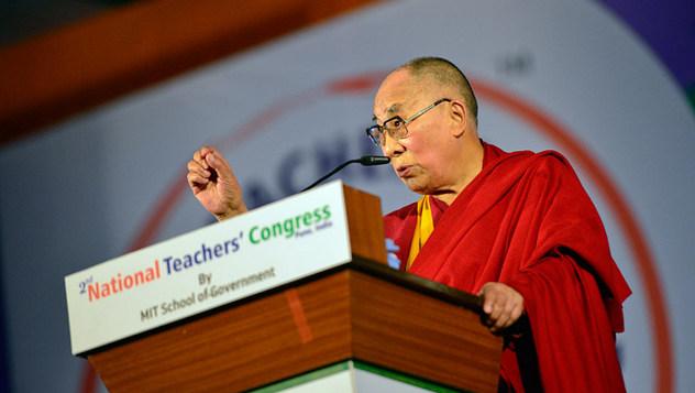 Далай-лама принял участие в открытии Второго национального конгресса учителей