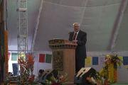 Бывший губернатор штата Сикким доктор Б. П. Сингх выступает с обращением во время празднования золотого юбилея Центрального института высшей тибетологии. Сарнатх, Варанаси, Индия. 1 января 2018 г. Фото: Тензин Пунцок.