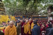 По завершении паломничества Его Святейшество Далай-лама покидает храм Махабодхи. Бодхгая, штат Бихар, Индия. 2 января 2018 г. Фото: Тензин Чойджор.