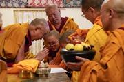 Церемония дарования монашеских обетов в Дхарамсале