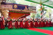 Артисты Тибетского института театральных искусств выступают во время торжественной церемонии «Спасибо, Индия». Дхарамсала, Индия. 31 марта 2018 г. Фото: Тензин Чойджор.