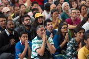 Некоторые из более чем 1000 туристов из Индии и других стран мира, собравшихся на встречу с Его Святейшеством Далай-ламой. Дхарамсала, Индия. 19 мая 2018 г. Фото: Тензин Чойджор.
