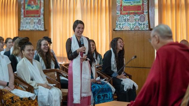 Далай-лама встретился с американскими, индийскими и тибетскими студентами и преподавателями