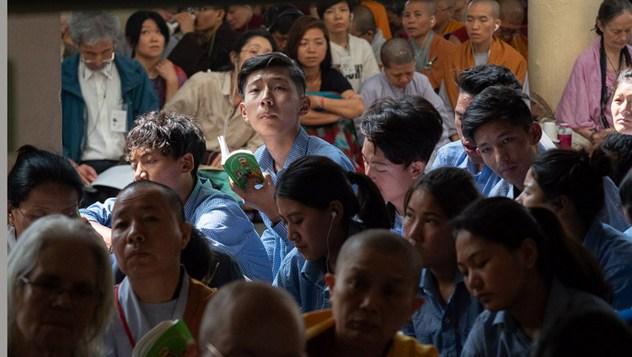 Второй день учений Далай-ламы для тибетских школьников и студентов