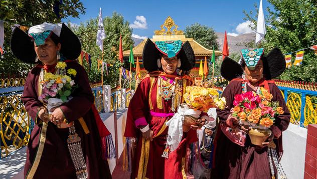 Далай-лама отправился из Дискита в Сумур