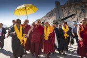 Дээрхийн Гэгээнтэн Далай Лам Дискетийн Нүбрад хүрэлцэн ирлээ
