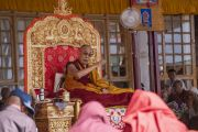 Его Святейшество Далай-лама дарует учения в Дискит Пходранге. Дискит, Ладак, штат Джамму и Кашмир, Индия. 13 июля 2018 г. Фото: Тензин Чойджор.