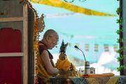 Его Святейшество Далай-лама дарует учения в монастыре Самстанлинг. Сумур, Нубрская долина, Ладак, штат Джамму и Кашмир, Индия. 16 июля 2018 г. Фото: Тензин Чойджор.