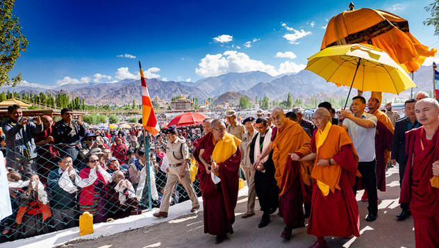 Далай-лама начал учения по «Бодхичарья-аватаре» в Ле