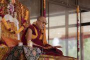 Его Святейшество Далай-лама  дарует учения по поэме Шантидевы «Путь бодхисаттвы». Ле, Ладак, штат Джамму и Кашмир, Индия. 30 июля 2018 г. Фото: Тензин Чойджор.