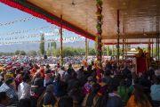 Его Святейшество Далай-лама продолжает учения по поэме Шантидевы «Путь бодхисаттвы». Ле, Ладак, штат Джамму и Кашмир, Индия. 31 июля 2018 г. Фото: Тензин Чойджор.