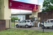 Кортеж Его Святейшества Далай-ламы прибывает в Институт менеджмента Гоа. Санкелим, штат Гоа, Индия. 8 августа 2018 г. Фото: Тензин Чойджор.
