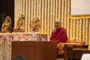 Его Святейшество Далай-лама читает лекцию на тему «Храбрость и сострадание в 21 веке» по просьбе общества «Видьялоке». Бангалор, штат Карнатака, Индия. 11 августа 2018 г. Фото: Тензин Чойджор.