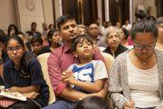 Слушатели во время встречи с Его Святейшеством Далай-ламой, организованной по просьбе общества «Видьялоке». Бангалор, штат Карнатака, Индия. 11 августа 2018 г. Фото: Тензин Чойджор.