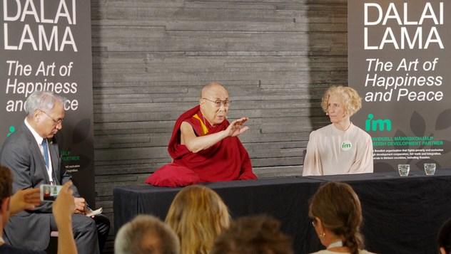 В Мальмё Далай-лама прочел публичную лекцию «Искусство счастья и мира»