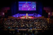 Вид на концертный зал Мальмё во время публичной лекции Его Святейшества Далай-ламы. Мальмё, Швеция. 12 сентября 2018 г. Фото: Эрик Торнер/IM.
