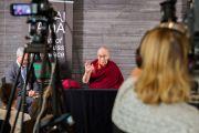 Его Святейшество Далай-лама во время встречи с журналистами. Мальмё, Швеция. 12 сентября 2018 г. Фото: Малин Килстрем/IM.