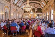Его Святейшество Далай-лама встречается за обедом с мэром Мальмё, городскими советниками и членами совета директоров «IM». Мальмё, Швеция. 13 сентября 2018 г. Фото: Малин Килстрем/IM.