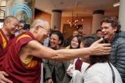 Дээрхийн Гэгээнтэн Далай Лам зарим хүмүүстэй уулзан ярилцав. Нидерланд, Роттердам. 2018.09.14. Гэрэл зургийг Оливер Адам